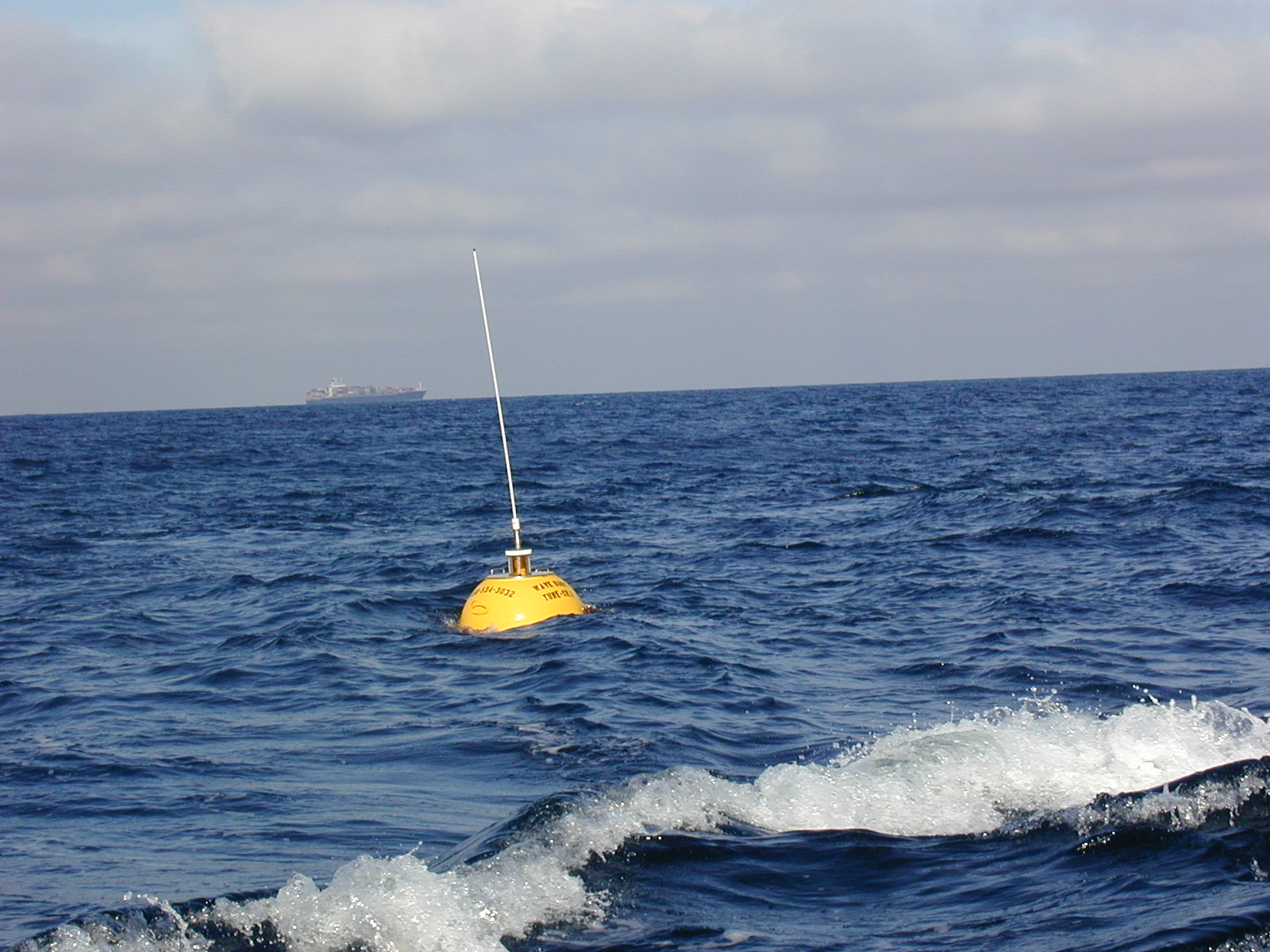 View of newly deployed buoy