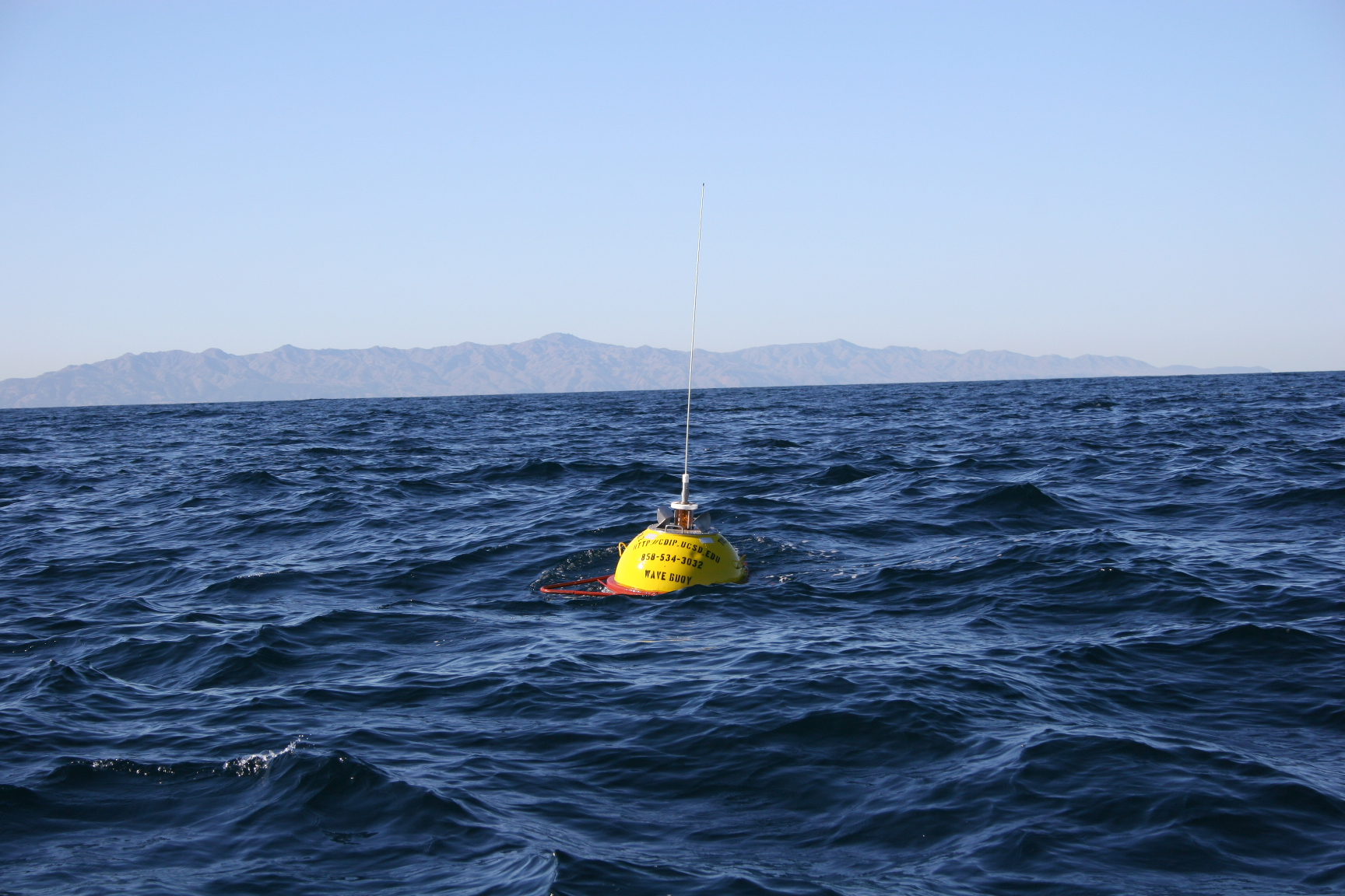 Buoy with Santa Cruz Island in background