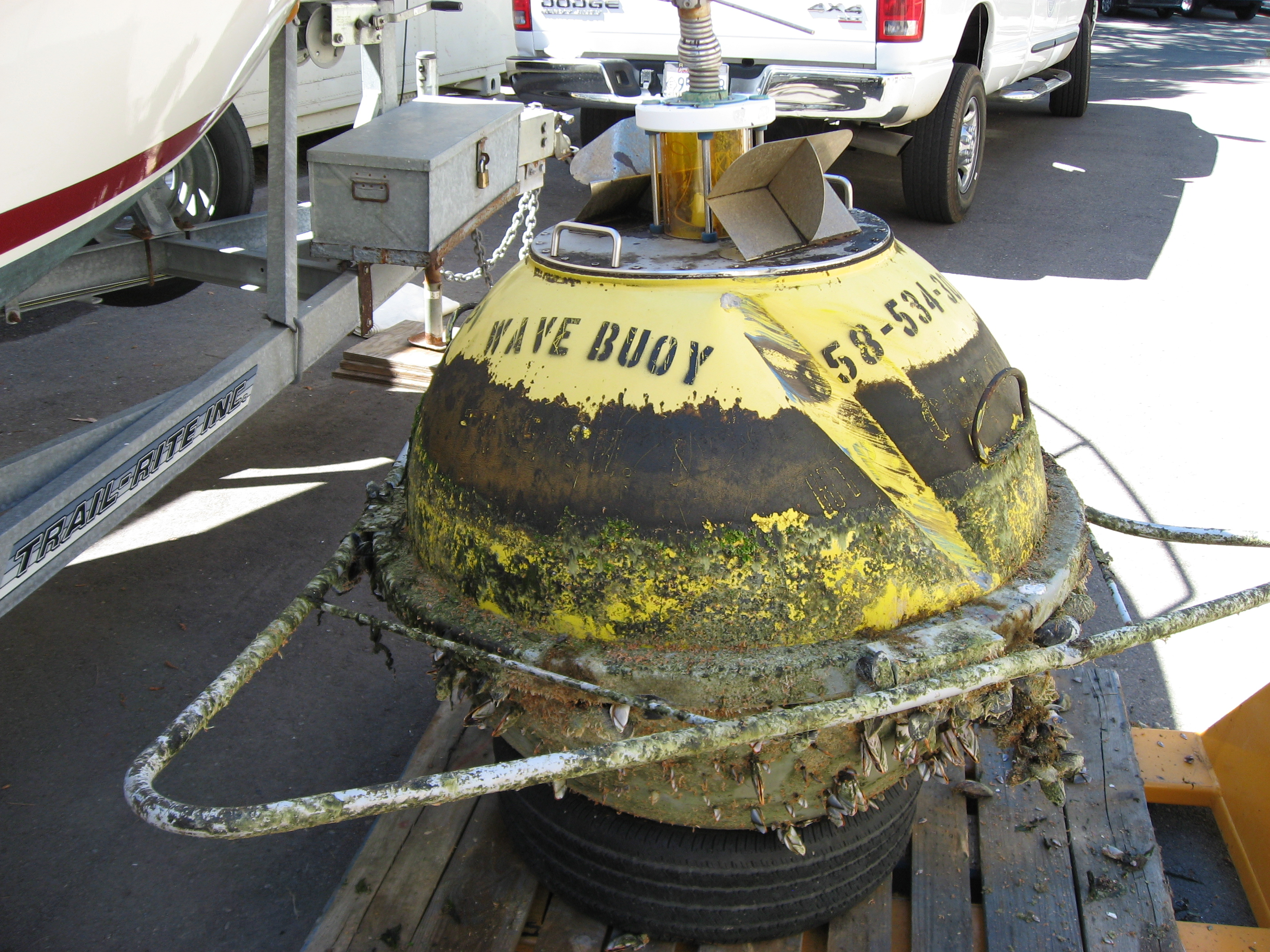 Damage to buoy after collision