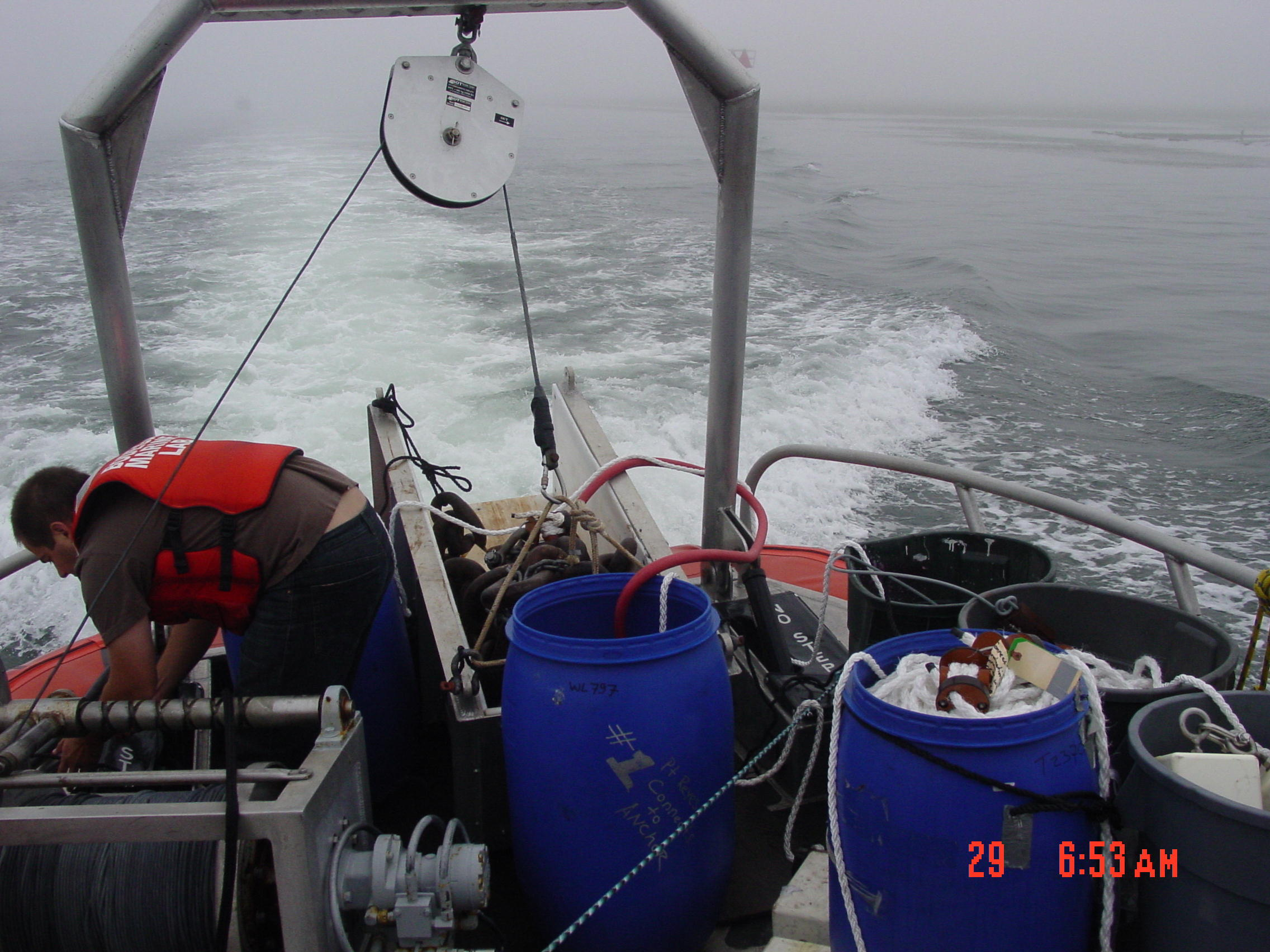 Buoy rig and anchor chain chute