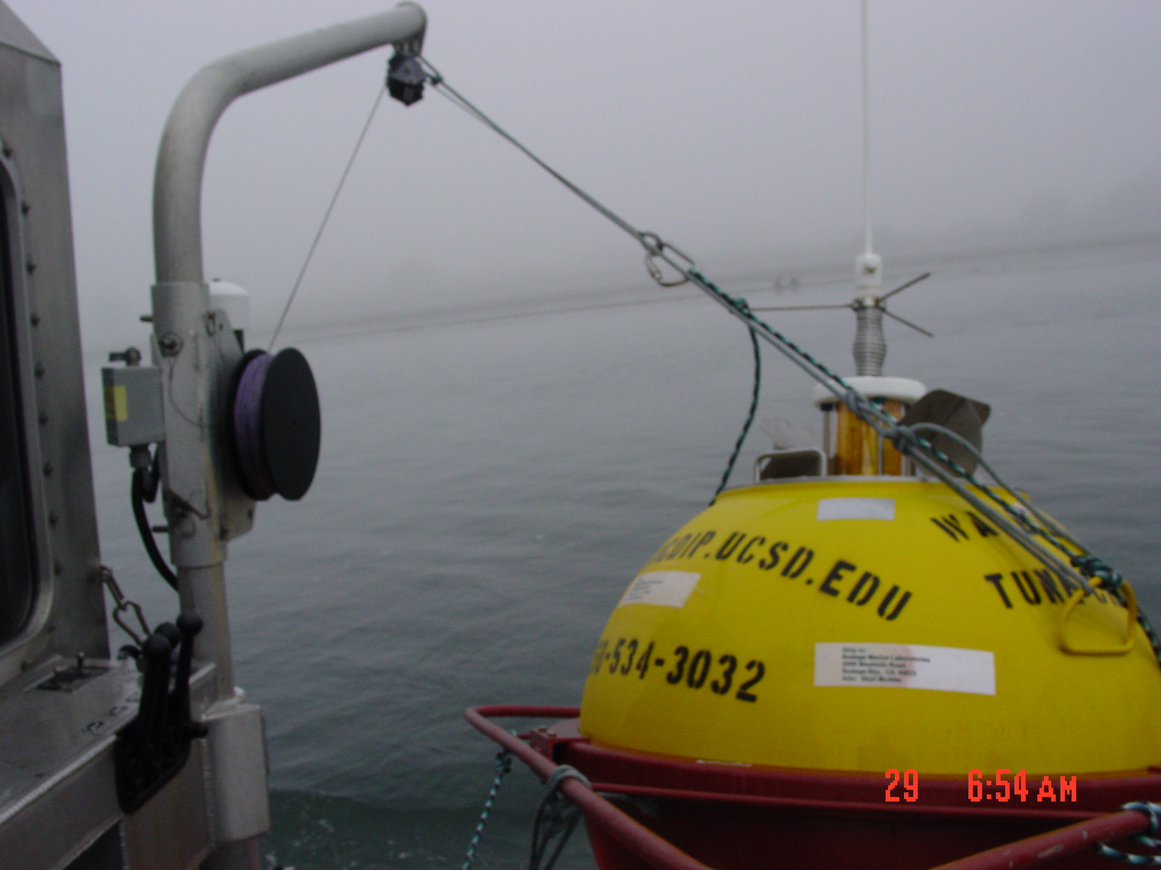 Buoy attached to davit