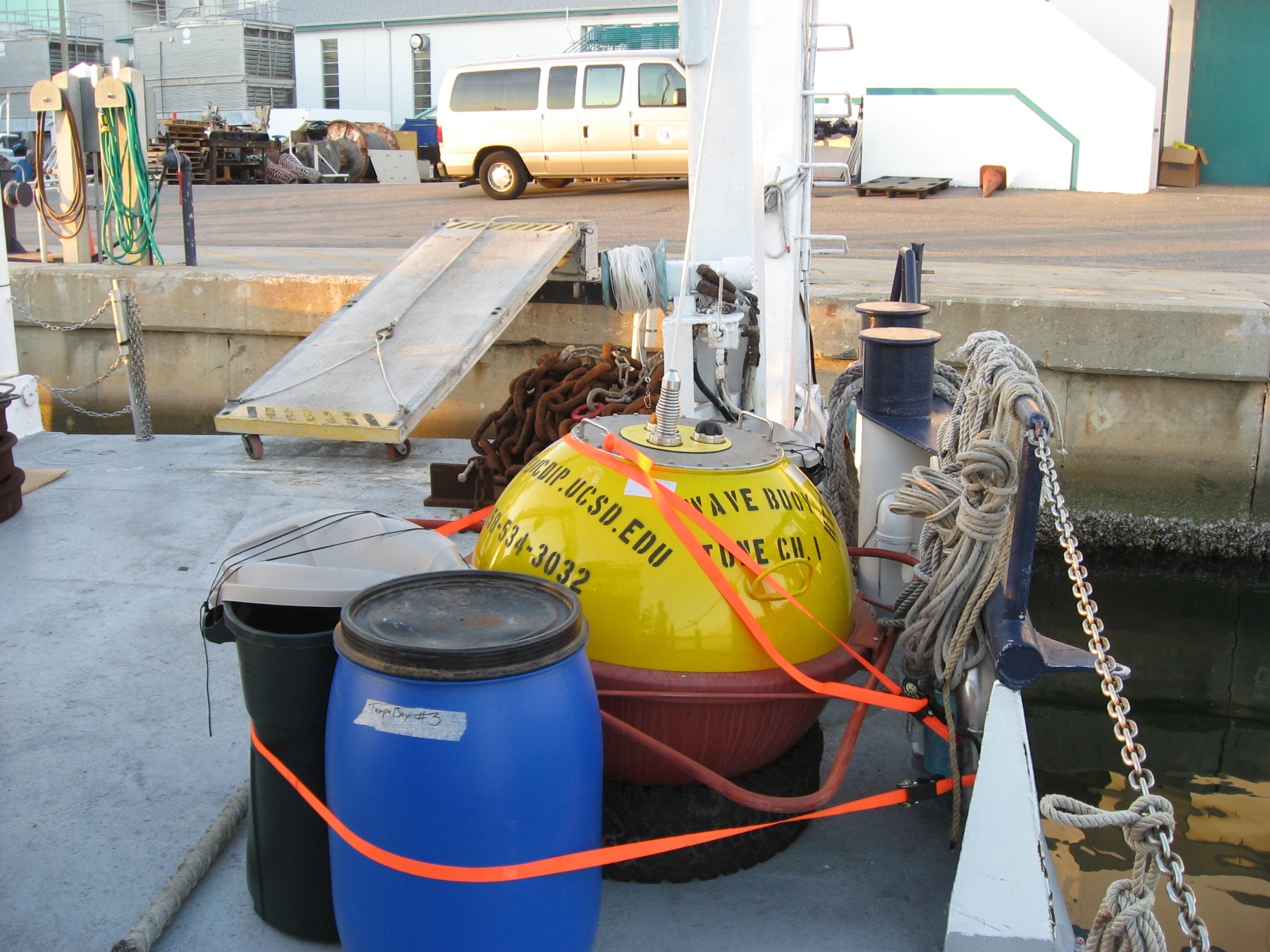 Buoy and rig ready for deployment