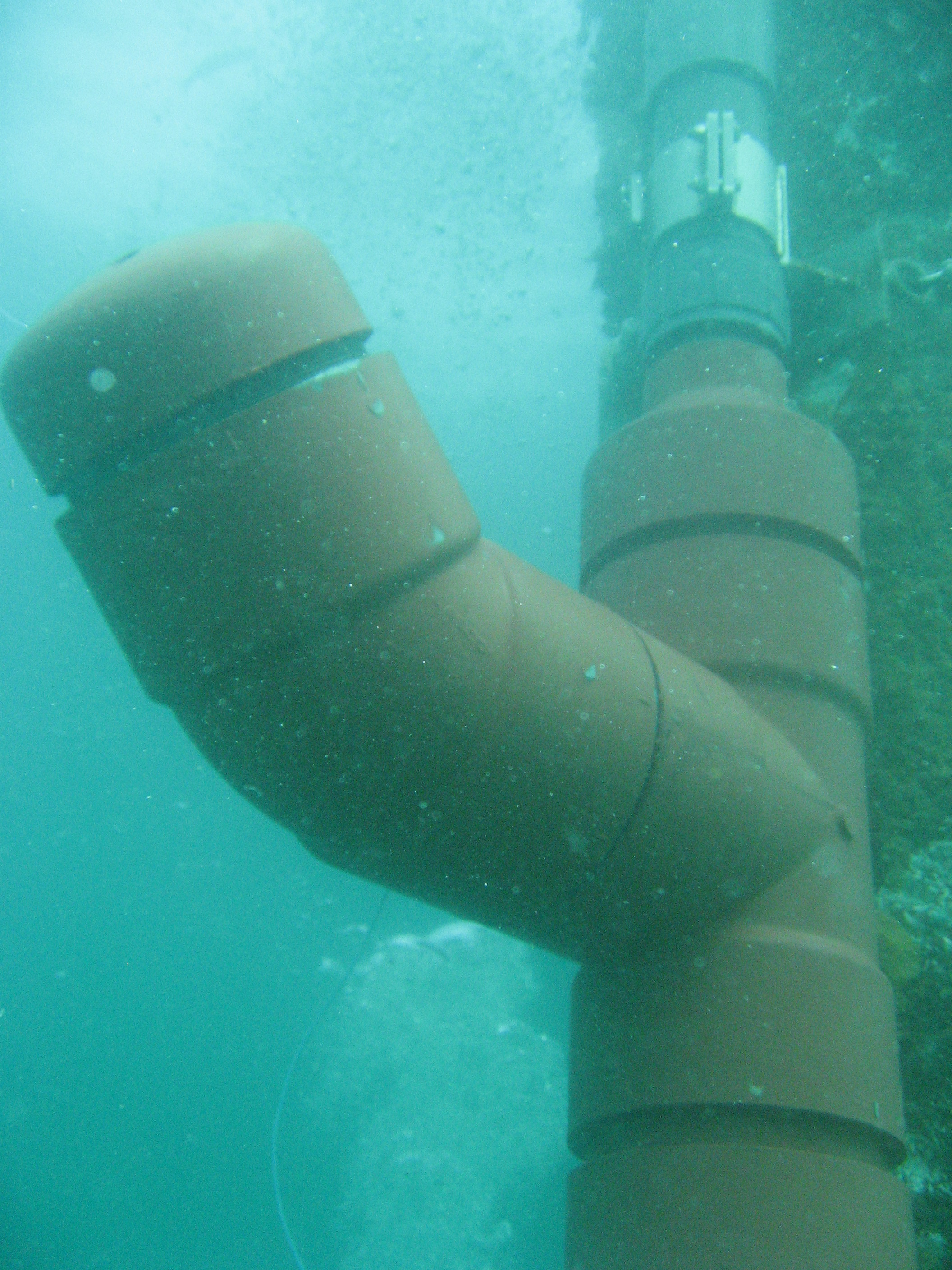 Close view of sensor near ocean bottom