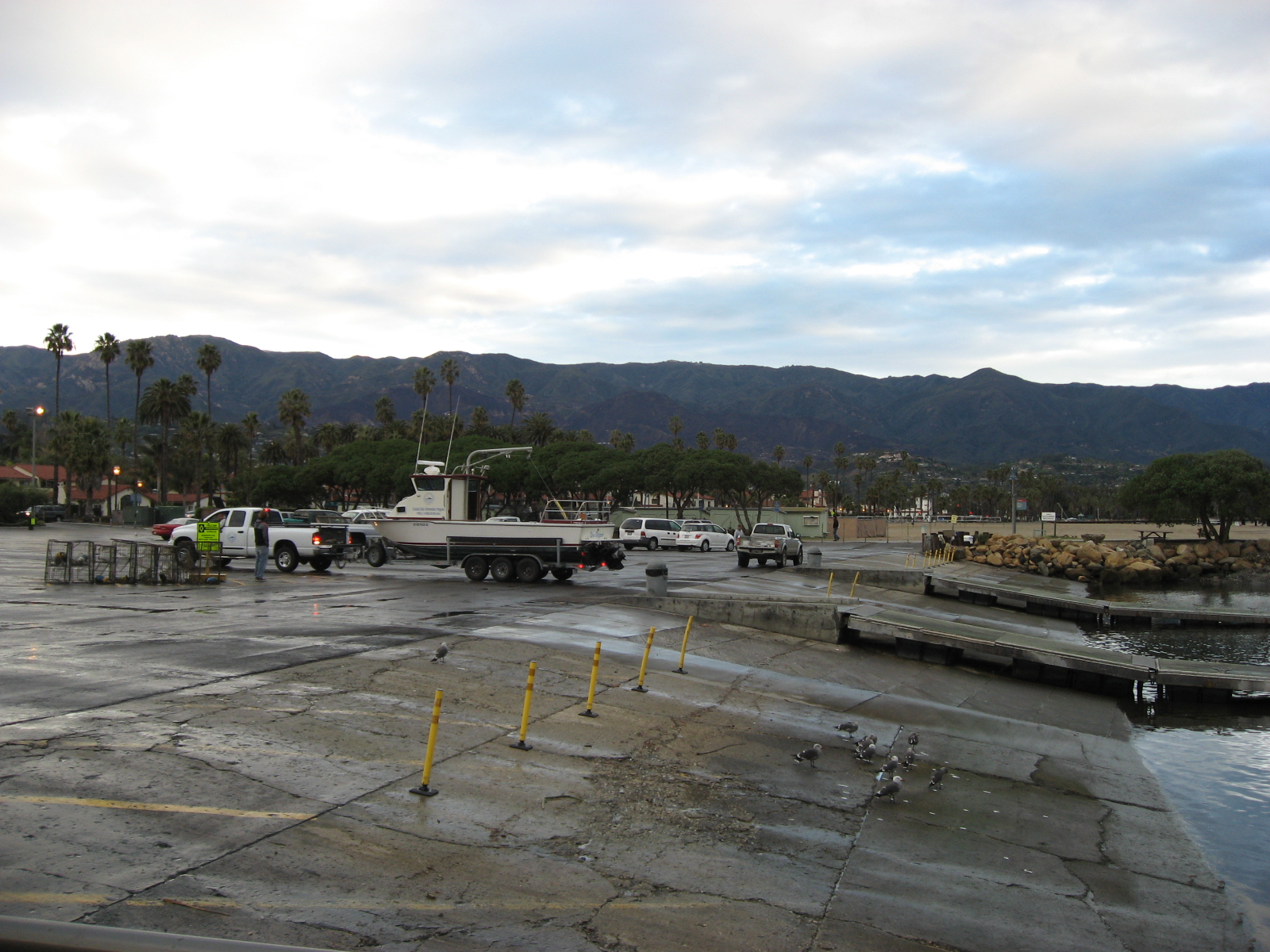 Launching at the Santa Barbara Harbor