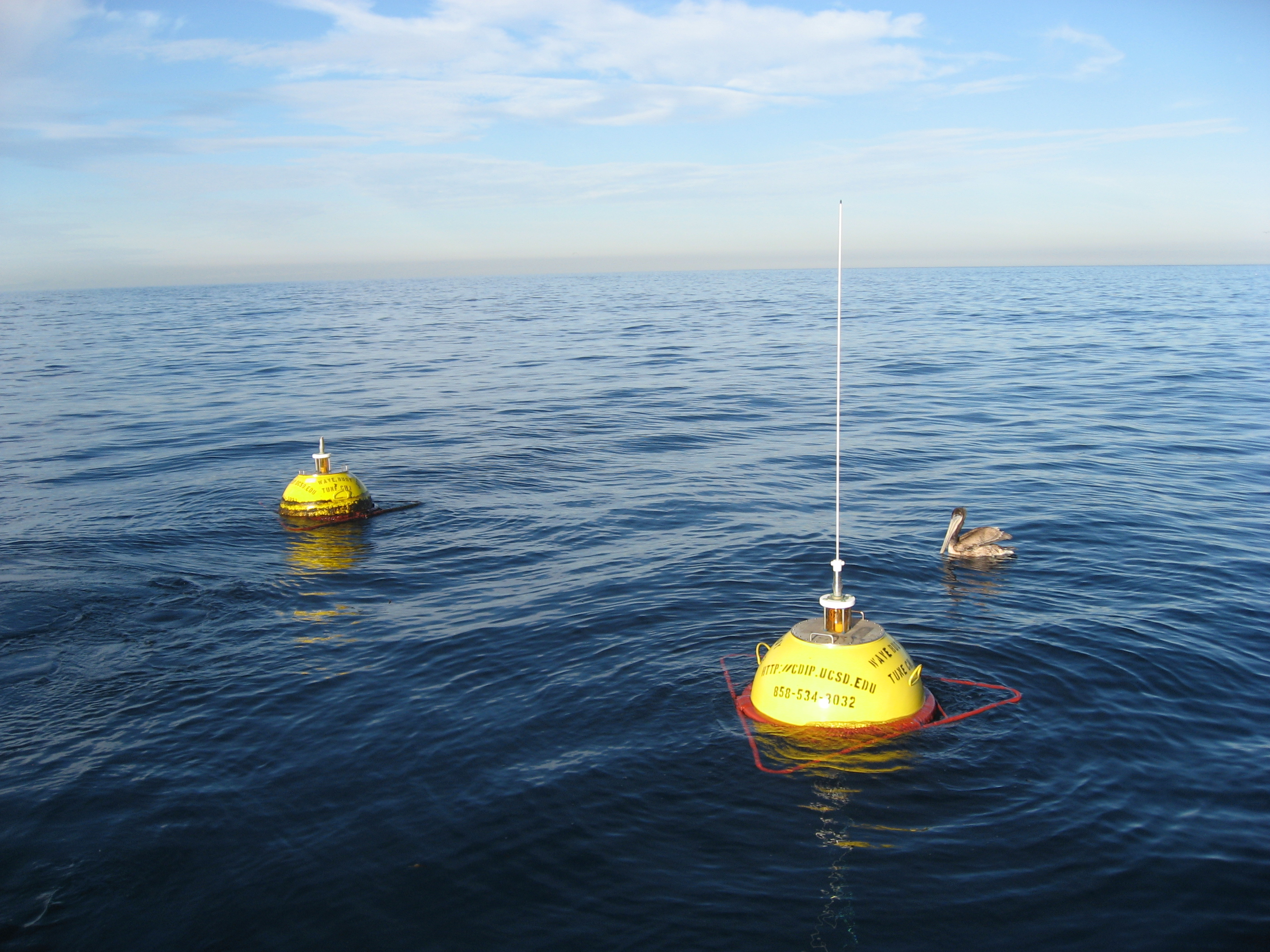 Newly deployed buoy with old buoy behind