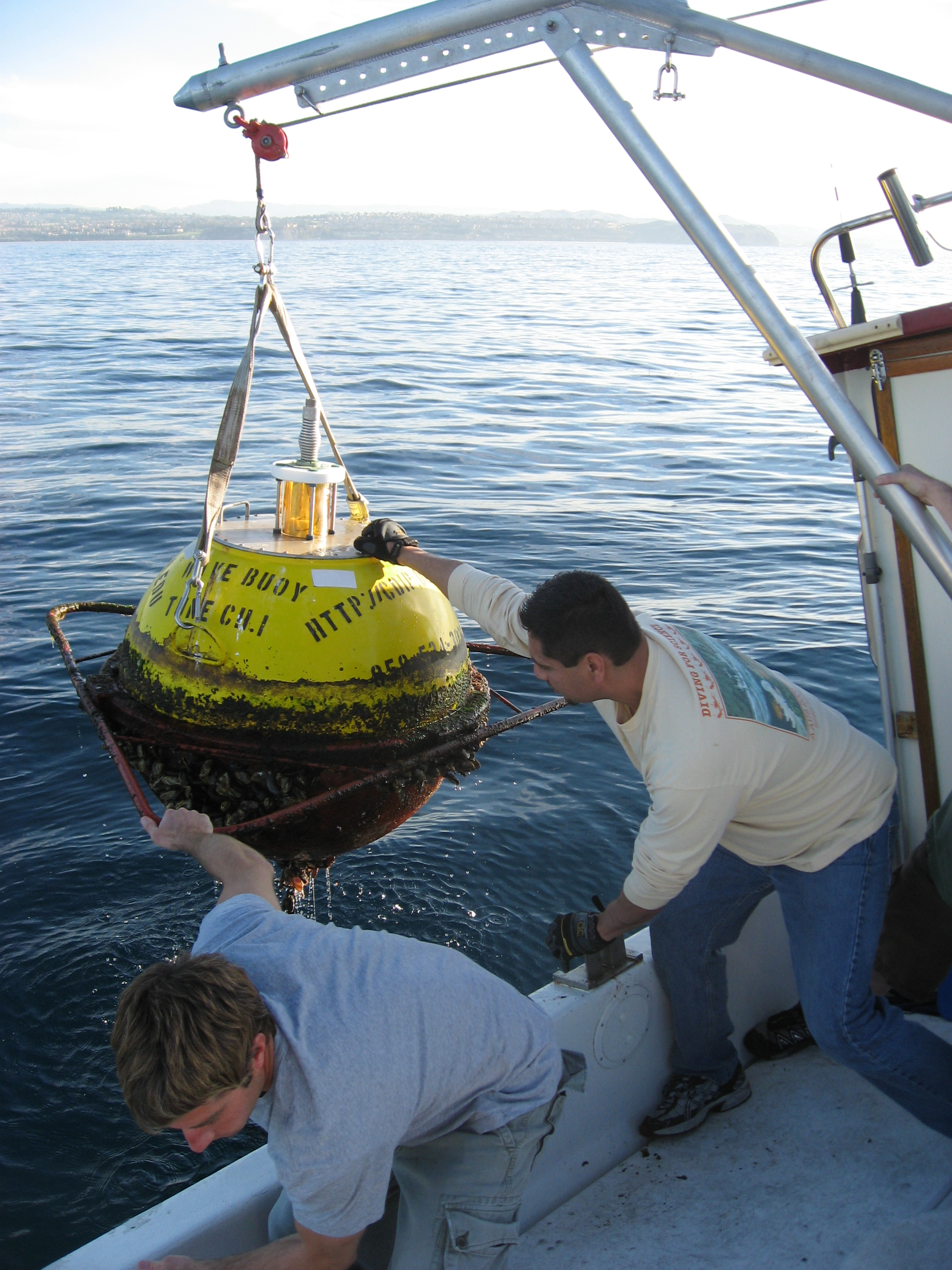 Recovery of old buoy