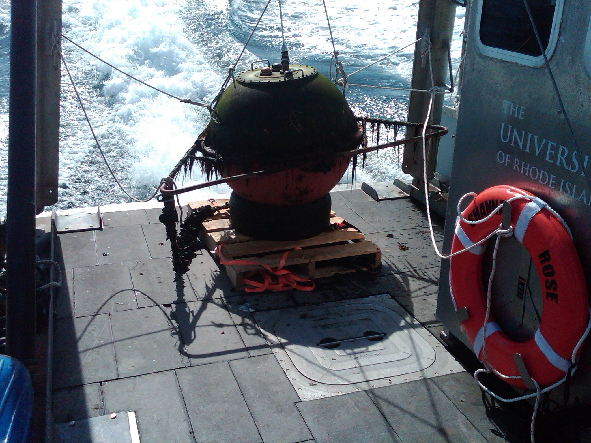 Buoy recently recovered