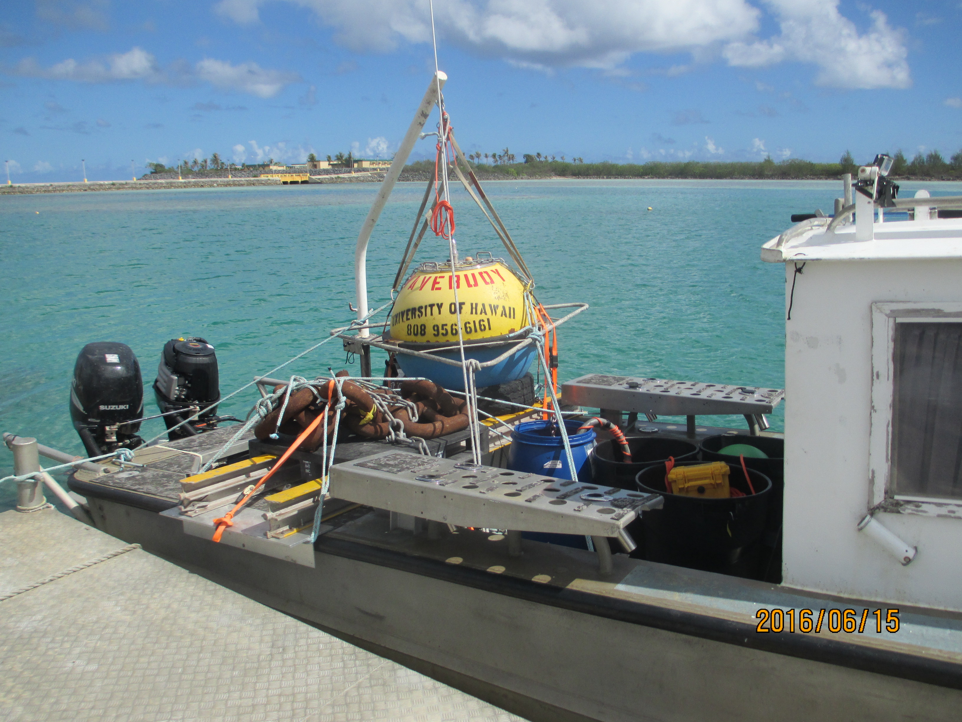 Recovery vessel and buoy