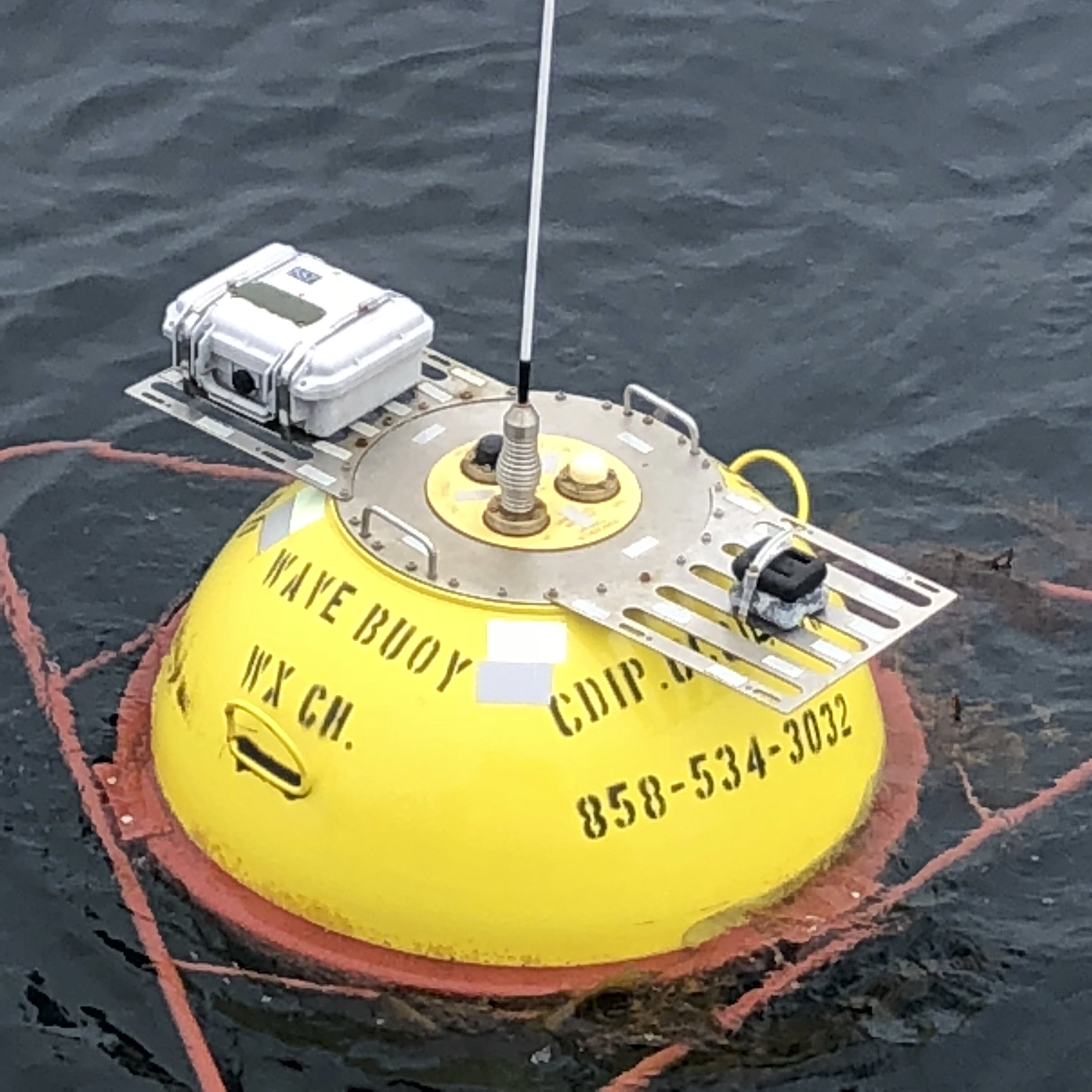 Buoy with AIS transmitter installed
