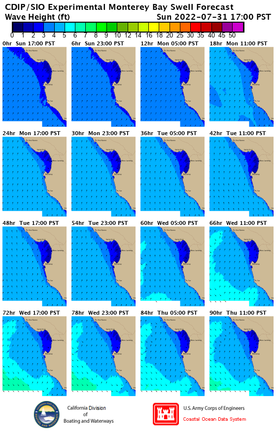 EXPERIMENTAL Four-Day Monterey Swell Model