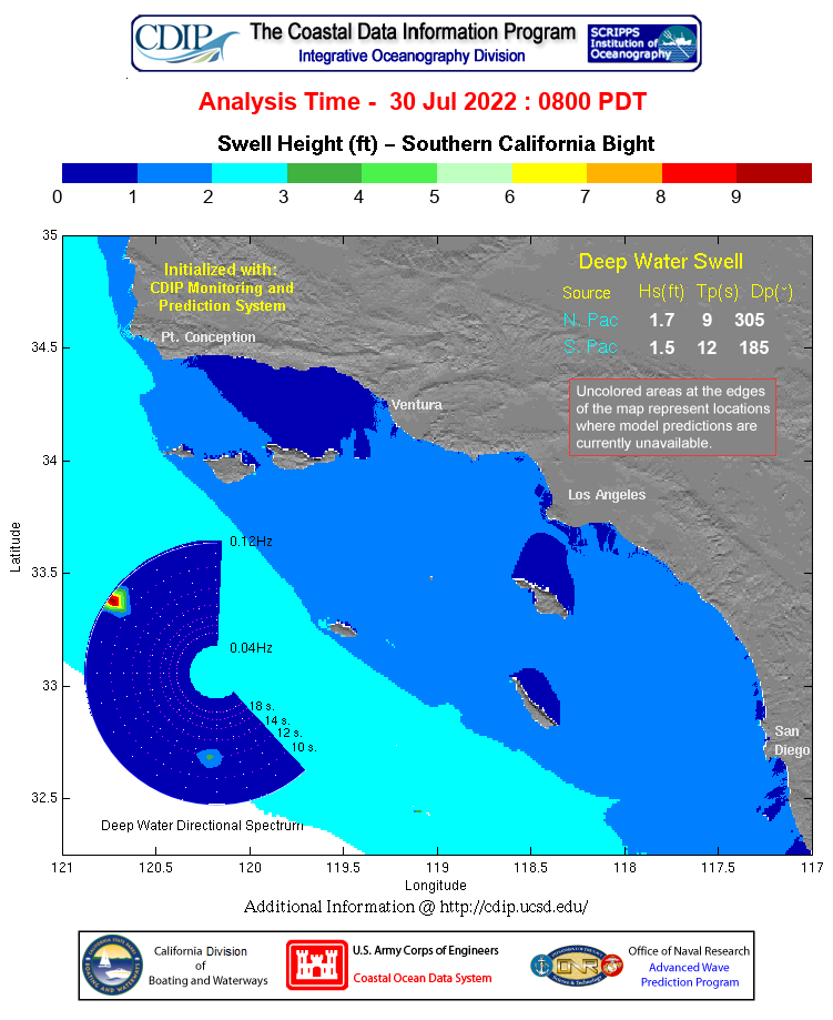Southern California Swell Map