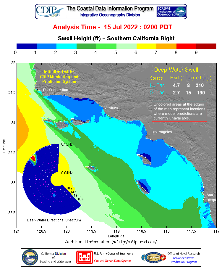 CDIP Swell Model Map