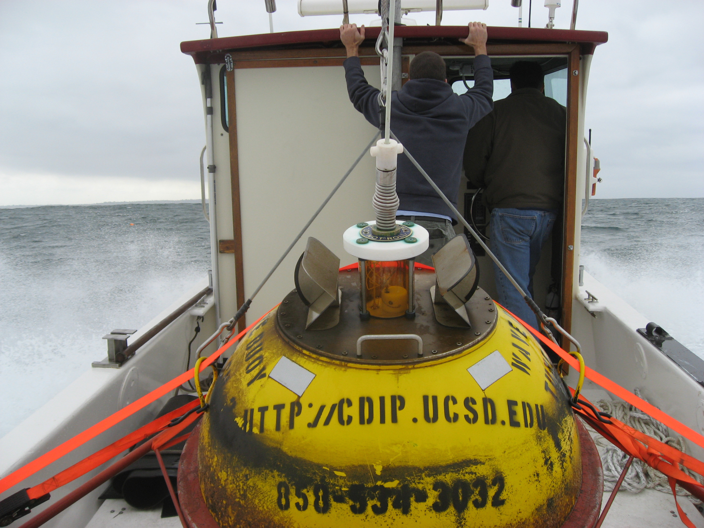 Rough seas and swell on return from buoy recovery