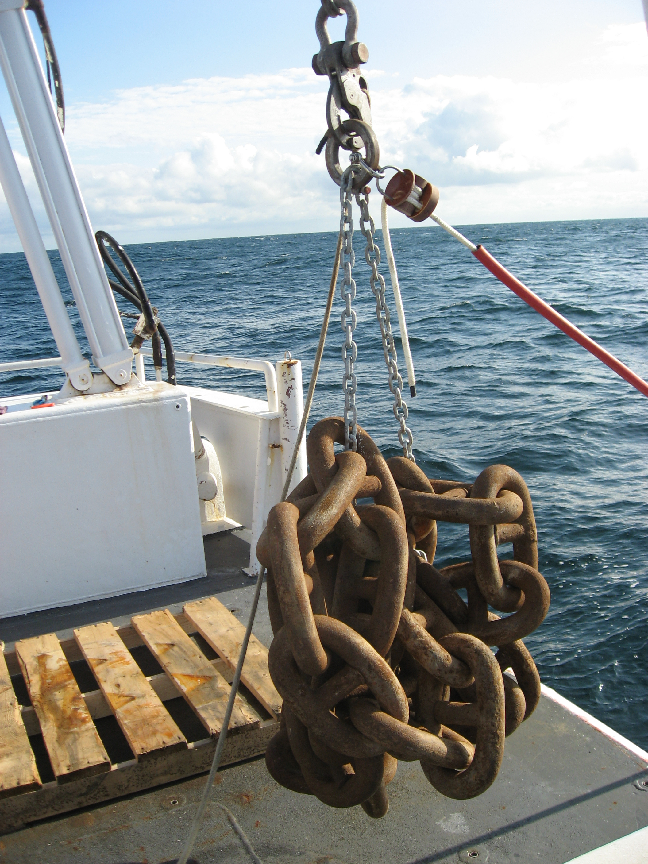 Anchor chain ready to be dropped