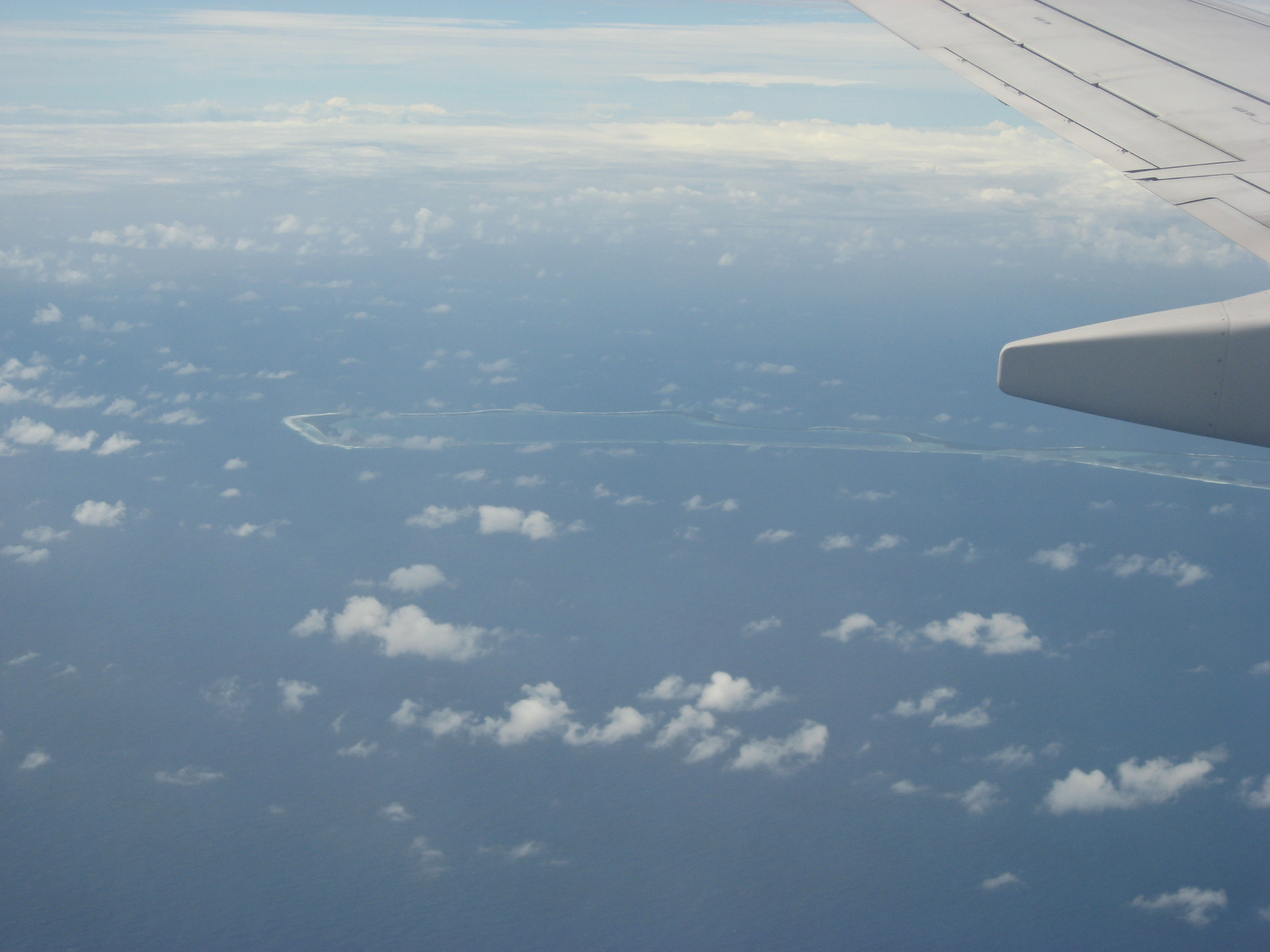 view of atoll from plane