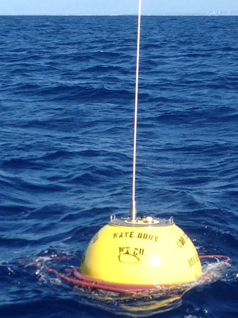 Buoy immediately after deployment